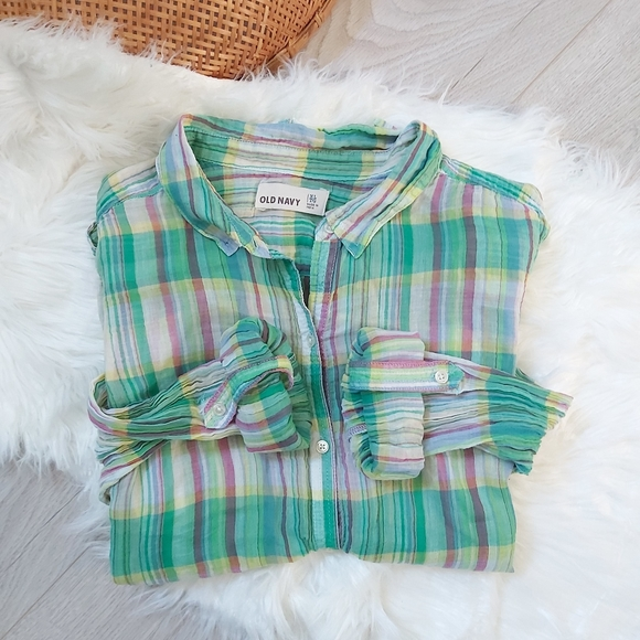 Old Navy green light flannel